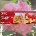 Вафли со вкусом спелой Клубники Bissin Strawberry Wafers