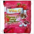 Витамин С с Клубничным вкусом Vita-C Vitamin C Tablet Strawberry